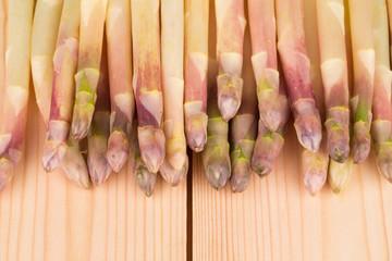 Bunch of fresh white asparagus