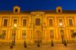 Seville - Palacio arzobispal (archiepiscopal palace) at dusk