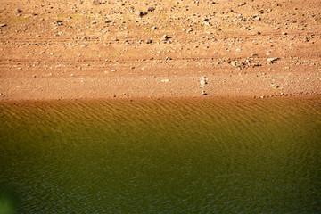 nivel de profundidad en un pantano