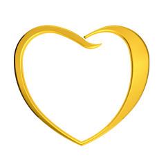 Golden heart logo