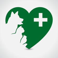 Veterinary Sign. Heart