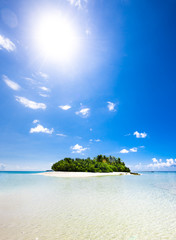 Untouched tropical beach in the Indian ocean
