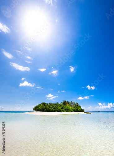 Untouched tropical beach in the Indian ocean - 73299379