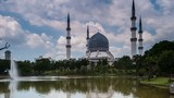 The Blue Mosque Hyper Lapse on a clear day poster