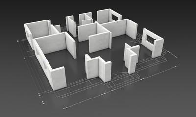 Gebäude Kontruktion Architektur