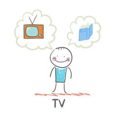 one thinks of the TV and book