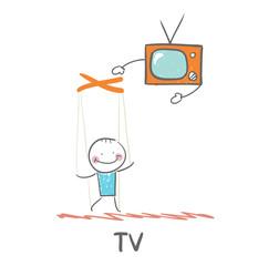 TV controls the person