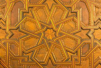 Seville -  Detail from mudejar wood gate