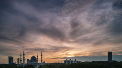 Amazing Sunset Time Lapse at a mosque