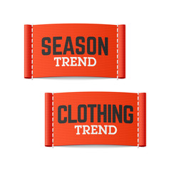 Season and clothing trend labels