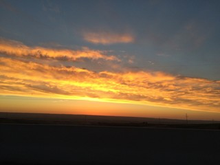 primer amanecer noviembre en sierra de madrid