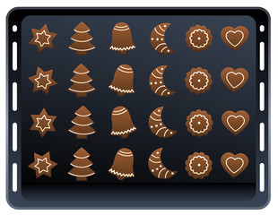 Ginger Bread Cookies Baking Plate