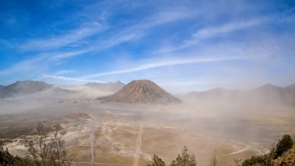 Sandstorm Time Lapse at Mount Bromo, Indonesia