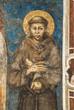 Leinwanddruck Bild - Franziskusdarstellung von Cimabue im Sacro Convento in Assisi