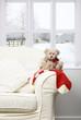 Teddy Sitting On Chair