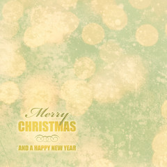 winterliche vintage weihnachtskarte