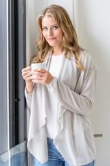 Beautiful woman having a coffee break