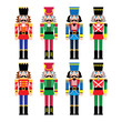 Christmas nutcracker - soldier figurine icons set - 73302593