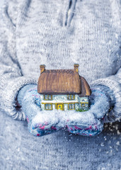 Cottage With Snowfall