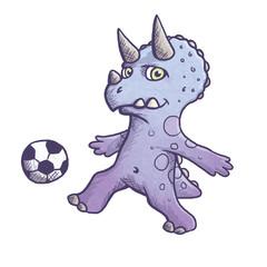 Fußball Dinosaurier Maskottchen