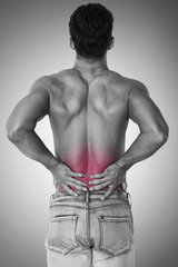 Man suffer from huge pain of back