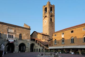 Piazza Vecchia, Bergamo Alta, Italia