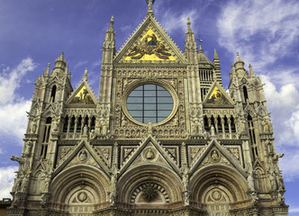 Siena, Tuscany, The Duomo. Color image