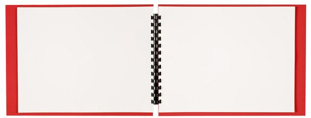 Blank Landscape Format Spiral-Bound Book