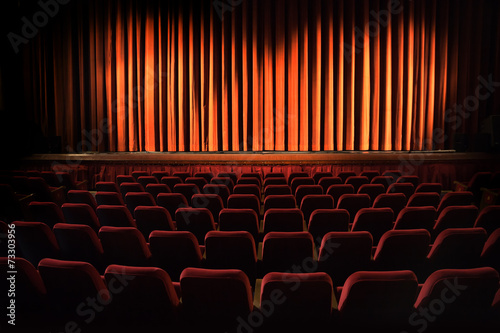 Theatre stage and chairs  - 73303956