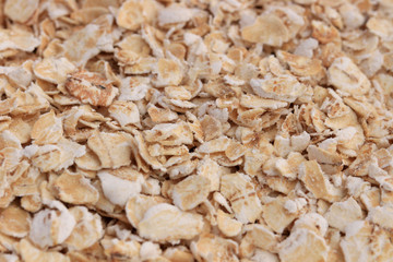 Extreme close-up of oat flakes