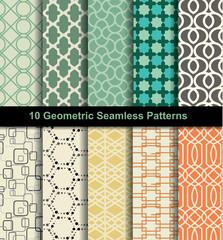 set seamless pattern retro