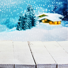 Winter or Christmas advertising background
