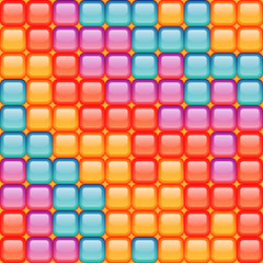 Seamless mosaic pattern in different colors