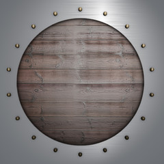 wood and metal background