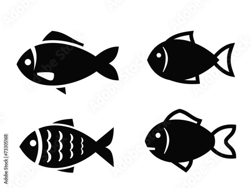 Fototapeta Fish icon