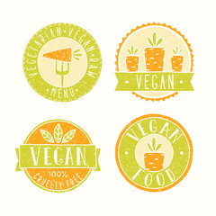 Vegan food badges.