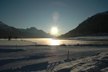 tramonto alpino