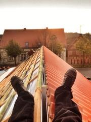 eigenheim dachdecker selfie