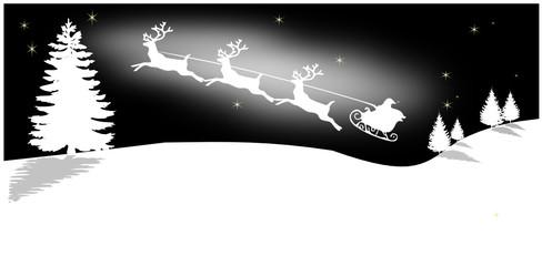 Weihnachtsmann auf seinem Schlitten