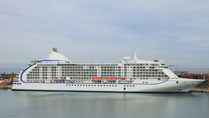 Cruise liner in port