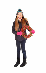 Girl with wreath.