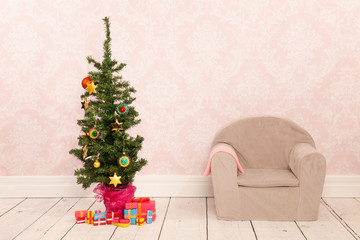 Christmas tree in interior