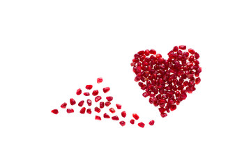 Pomegranate seeds promote a happy, healthy heart