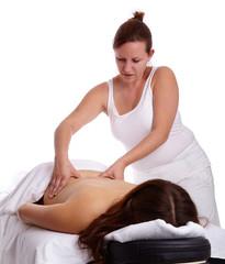 Frau bei klassische Massage