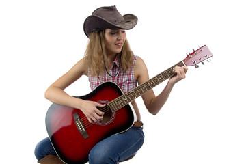 Image of woman playing guitar