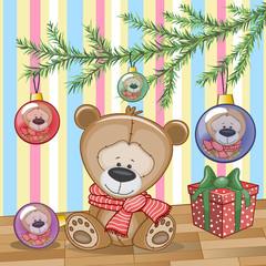 Teddy Bear under the tree