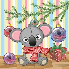 Koala under the tree