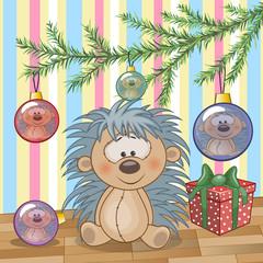 Hedgehog under the tree