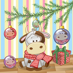 Cow under the tree