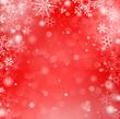 Winterhintergrund rot